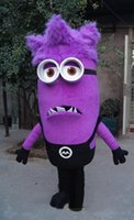 Vendita calda di Moda, Foto Reali Deluxe Purple Serventi mascot costume (due occhi)