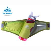 Wholesale 2016 AONIJIE Marathon Running Holder Belt Reflective Running Sports Bags Running Free Running Accessories Nylon Waist Pack Green