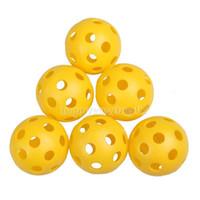 Wholesale bag Plastic Whiffle Airflow Hollow Golf Practice Training Sports Balls