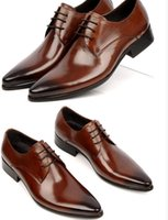 leather shoes italian men - New Arrival Luxury Brand Men Dress Shoes Hand Made Genuine Leather Wedding Shoes For Men Italian Leather Shoe Size eur38 eur45