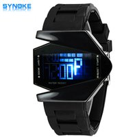 aircraft electronics - SYNOKE Boys Girls Creative Watches Universal Personality Kids Led Watches Aircraft Modeling Student Electronic Watches Five Color Led