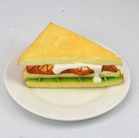 artificial food display - 14 CM New design simulation sandwich artificial fake food restaurant cabinets display