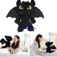 Wholesale Cartoon Movie How to Train your Dragon stuffed animals toothless dragon Night Fury Soft Plush toys dolls Christmas party Gifts