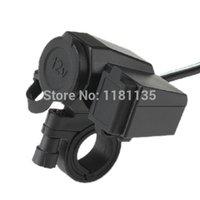 Wholesale 12V Integration Motorcycle Cigarette Lighter Outlet Socket V USB Power Port New