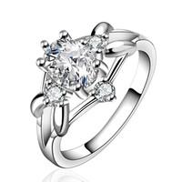 925 silver rings - Wedding Rings Zircon Rings silver rings Austrian crystal rings clear gemstone rings