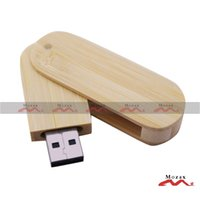bamboo thumb drive - 1GB Memory Flash USB Drive Thumb Stick Pendrive Engrave Logo Factory Outlet Fast Shipping Swivel Natural Bamboo