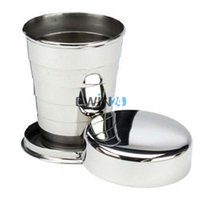 Wholesale 75ml Stainless Steel Folding Collapsible Cup For Outdoor Travel Camping Safe and Healthy