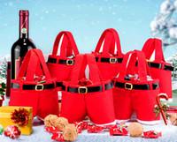christmas bag - New Hot Santa pants style Christmas candy gift bag Xmas Bag Gift Red