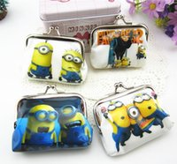 Wholesale Minions Frozen Coin Purse Girls Fashion Cartoon Shell Bag Wallet Purses for Children Kids Christmas Gifts
