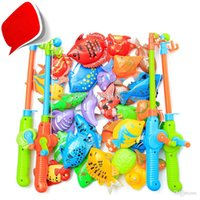 baby setting games - high quality Magnetic fish fishing toy game combination set fish pole Our door toys for baby gift