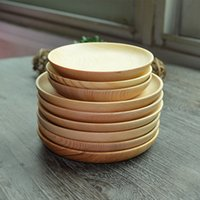 Wholesale Chinese Brief Wooden Plate Breakfast Wood Plates Tea Trays Dishes Tableware And Inch