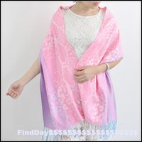 air condition systems - P powder system soft colors leopard Cotton Scarf Jacquard shawl scarf Lijiang national air conditioning