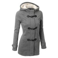 beige peacoat - Autumn Winter Women Thick Wool Coat Hoodie Jacket Parka Trench Peacoat Double Breasted Warm Clothes Colors