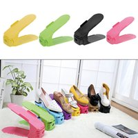 Wholesale 1pc Display Rack Shoes Organizer Space Saving Adjustable Plastic Storage Brand New