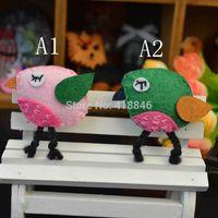 Wholesale Handmade Cartoon Animal Bird Shape Garment Brooch Pin CPS Nonwoven Crochet Fashion Jewelry Pins