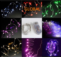 battery operated ac - 2M LEDs CR2032 Battery Operated Micro Mini LED String Light Copper Silver Wire Starry Light String For Decoration