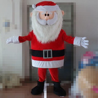 adult santa pictures - SX1015 real picture a santa claus mascot costume with red coat for adult to wear