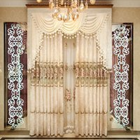 Wholesale Home windows decorated bedroom living room European style custom embroidered curtains bind curtain yarn