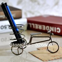 Wholesale Bicycle Pen Bicycle Small Pen Container Brush Pot Tubular Pen rack Home Decoration Gift Christmas Gift Children Bedroom Deco