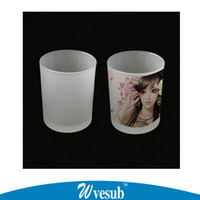 best blanks sublimation - 6oz Sublimation Blanks Drinking Glass Mug Office Cup Frosted Drinking Cup High Quality Tea Best Selling Cup