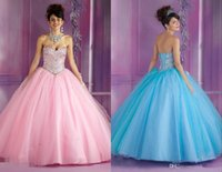 Wholesale 2015 cinderella Sweetheart Ball Gown Pink Long Quinceanera Dresses For Year Sweet Birthday vestidos de quinceanera Party Dress Gowns