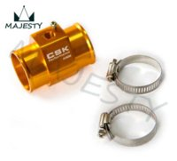 Wholesale 40MM quot Water Temp Gauge Radiator Sensor Adaptor Attachment Aluminum Gold Blue Red Silver M53694