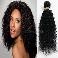 Wholesale Jet Black Brazilian Curly Hair Weaves Kinky Curly Human Hair Extensions Black Peruvian Malaysian Indian Hair Wefts Bundles quot quot