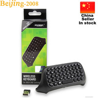 achat en gros de clavier bluetooth xbox-Mini Bluetooth Wireless Chatpad Message Game Controller Keyboard pour Xbox One Controller avec récepteur 2.4G 010211