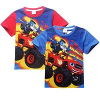 Wholesale 2016 Blaze Monster Machines boys T shirt short sleeve summer tees top t shirt