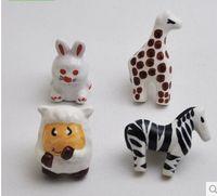 animal drawer handles - FBH040304 Doorknob Animal shape Handle children s room Cartoon Mediterranean ceramic drawer shoe wardrobe cute