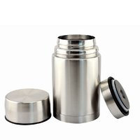 Wholesale High Quality Silver Thermal Cooker Box Heat Preservation Lunch Box order lt no track