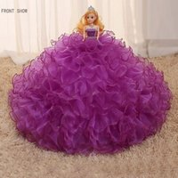 Wholesale 2016 handmade high end Bobbi doll wedding gift purple Large size