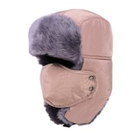 Wholesale New Winter fur hats Outdoor Windproof Thick warm winter snow women cap Face Mask Unisex cycling hat
