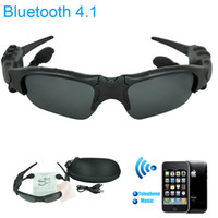 Wholesale Smart Glasses Sunglass Sun Glass Sports Headset Bluetooth Sunglasses andfree Phone Eyeglasses Self timer for Apple Samsung ISO Free DHL