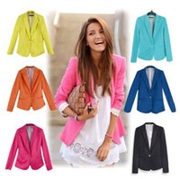 women suits - Women suit OL Work Wear Blazer Women Feminino Refresh Classic Candy Color Jackets Suit One Button Blazers Blaser