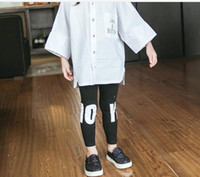 Cheap 2016 New Spring New Arrival Edition Joker Children Letters Stretch Pants and Little Feet Pant for 2-7T