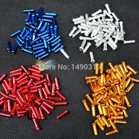bicycle end caps - 100 Bicycle Bike Cycling Shifter Brake Cable End Tip Cap four color Crimp