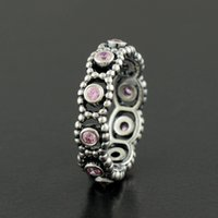 Wholesale 100 Sterling Silver Pink Romance Ring with Zirconia