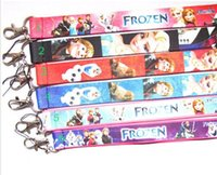 Wholesale mixed frozen ELsa Anna olaf Lanyard with Lobster Clasp Fit Key ID Mobile Cell Phone Key chain