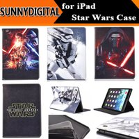 air force war - Hot Darth Vader Star Wars The Force Awakens Stormtrooper Cover Folio Stand Folding PU Leather Case for iPad Air Air2 Mini