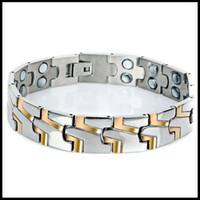 balance magnets - Mens Magnet L Stainless Steel Bracelets Bangles New Healthy Balance Energy Magnetic Bracelet Jewelry