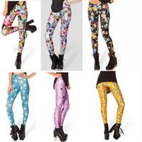 Mid spandex leggings - Women Lady s New Stylish colorful print slim fit Punk Sexy Stretchy Leggings Pencil Skinny Pants