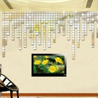 acrylic sticker paper - New x2cm Acrylic D Mural Wall Sticker Mosaic Mirror Effect Room DIY Hot New