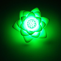 Wholesale 20pcs Changing Colors Lotus LED wedding party christmas decoration items Romantic gift Flower Light Night Lamp