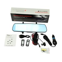Wholesale 4 inch p full HD car rearview mirror video recorder with dual camera car dvr hot selling