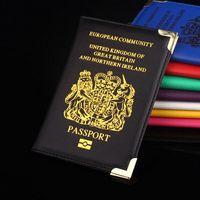 artificial kingdom - 1 Passport Holder European Community United Kingdom Britain PU Artificial Leather Protector Passport Bags Cover Case