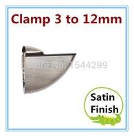 Wholesale 10pcs clamp size option mm Adjustable Metal Shelf Holder Glass Clamp bracket Satin Brushed finish Zinc alloy Material