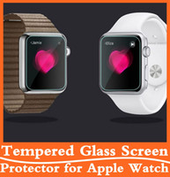 Wholesale Ultra Thin H D Tempered Glass Explosion Proof Screen Protector Film Guard for Apple Watch Iwatch mm mm with Retail Box High Quality