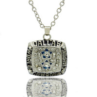 mens jewelry lot - 2015 New Arrival Men Sport Jewelry Necklaces Super Bowl Cowboys Championship Pendant Necklace For Mens Wedding Gift NC4675