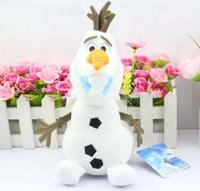 Wholesale 2015 inch cm OLAF plush toys Snowman Plush Doll New cartoon Movie Lovely Stuffed Princess Elsa Anna Kristoff Trolls Milu baby Toy Gift